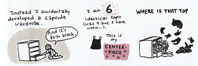 The downside of having a mainly black capsule wardrobe